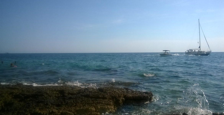Swingers pláž Punta Križ, Rovinj, Chorvatsko